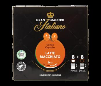 Gran Maestro Italiano - Latte Macchiato - Compatible Capsules pour Dolce Gusto®