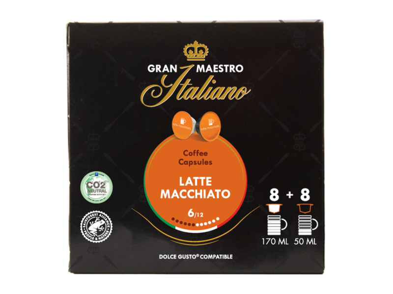 Gran Maestro Italiano Gran Maestro Italiano - Latte Macchiato - Compatible Cups voor Dolce Gusto®