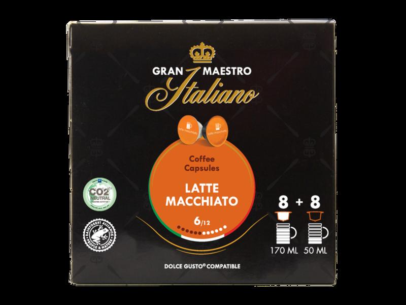Gran Maestro Italiano Gran Maestro Italiano - Latte Macchiato - Compatible Capsules pour Dolce Gusto®