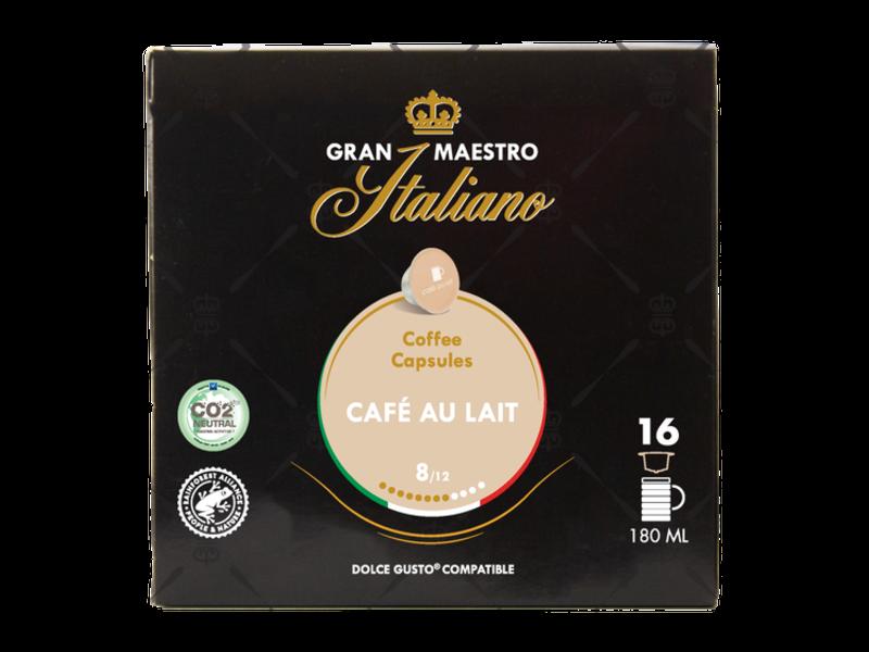 Gran Maestro Italiano Gran Maestro Italiano - Cafe au Lait - Compatible Cups voor Dolce Gusto®