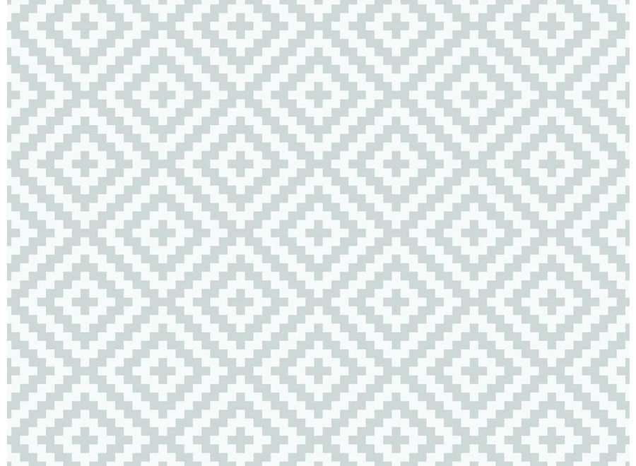 Vloerkleed vinyl |Diamond grey,  Diamanten patroon