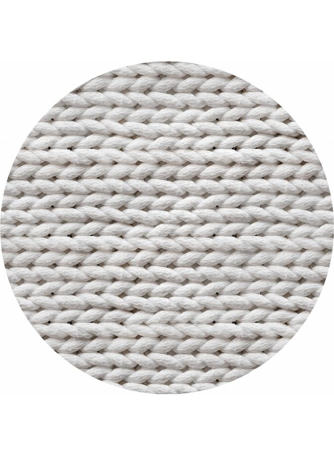 Vinyl vloervinyl rond | Braided Virgin White