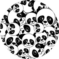 Kinderkamerkleed | Panda  dream