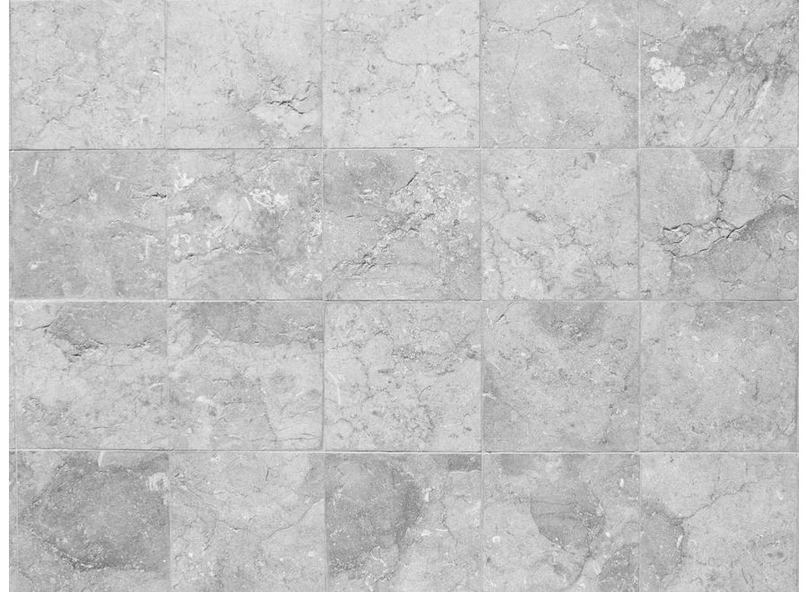 Vloerkleed vinyl | Rough marble grey