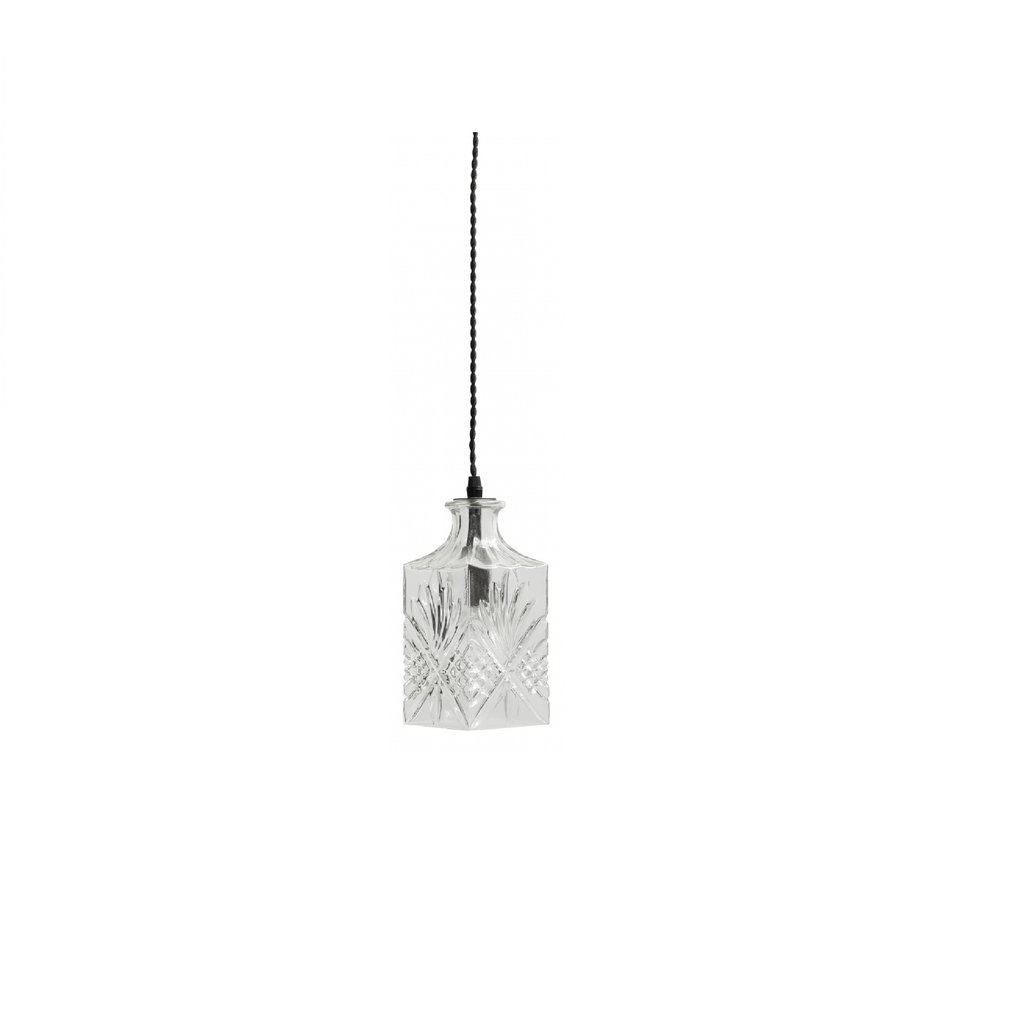 Nordal Nordal - Flacon lamp, clear, round - Vierkante lamp