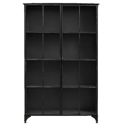 Nordal Nordal - Downtown iron cabinet, black - Kast metaal 2-deurs - Zwart - M