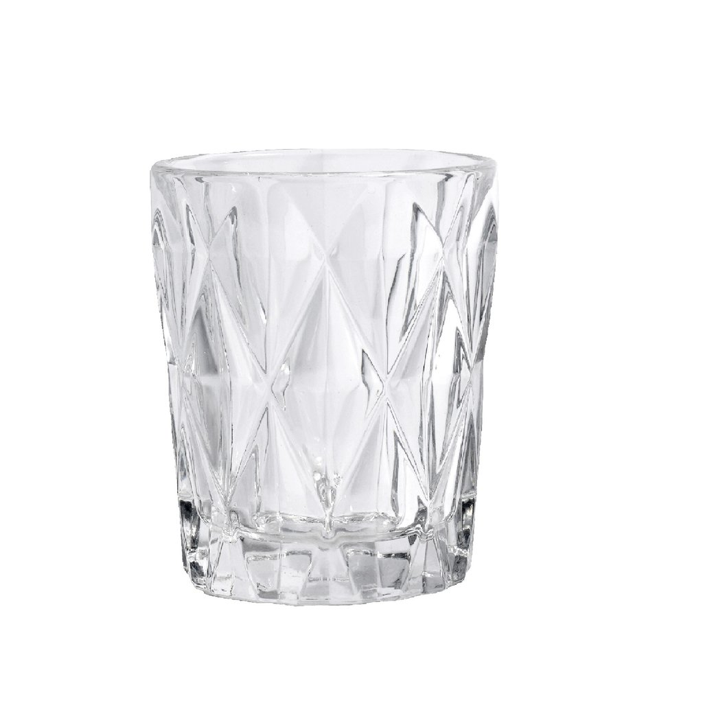 Nordal Nordal - Diamond drinking glass, S, clear - Drinkglas - S
