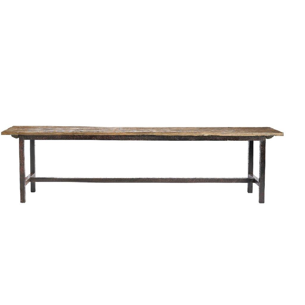 Nordal Nordal - Rough Bench, metal legs, L - Bank metalen poten - L