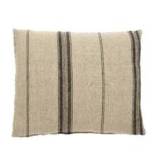 Nordal Nordal - Cushion cover, natural linen w/black str - Kussenhoes linnen (incl. vulling) - Naturel - 40x65