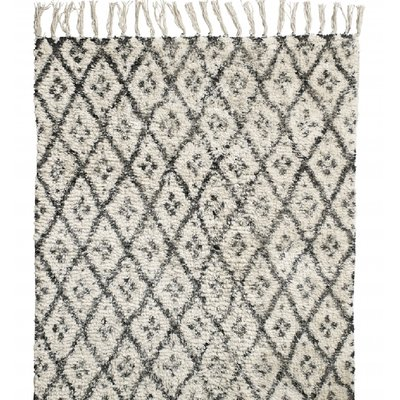 Nordal Nordal - Carpet, diamonds, off white/black, small - Vloerkleed diamonds - Offwhite/zwart - S - 60x90