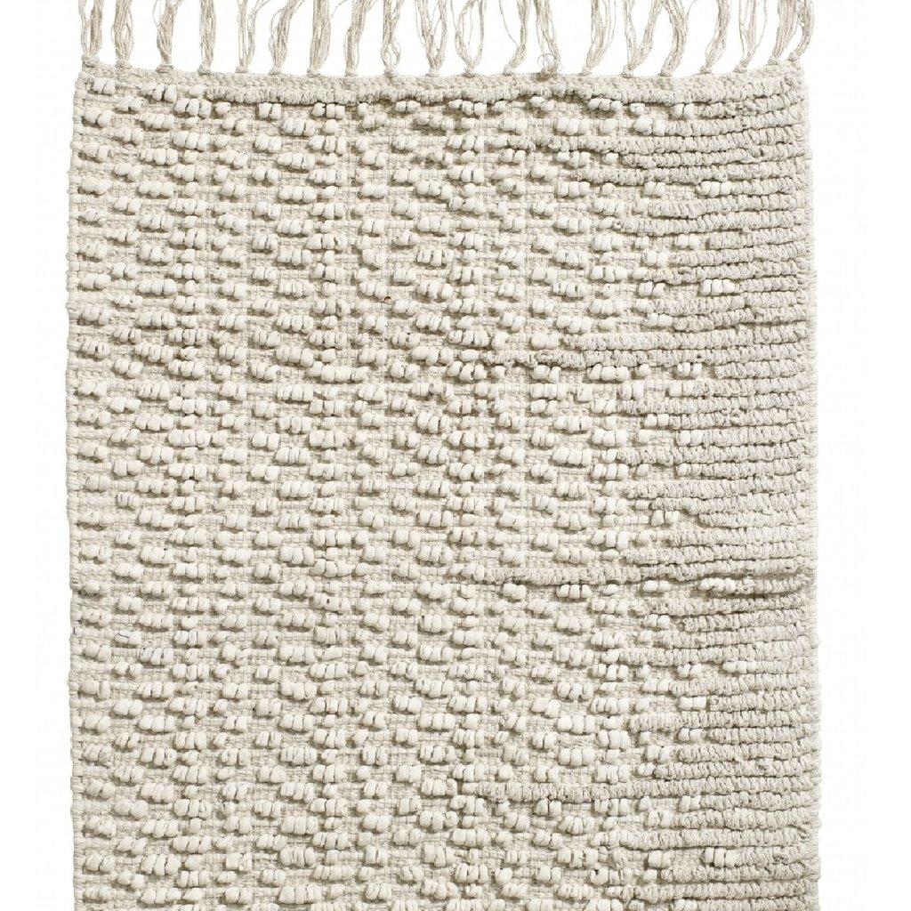 Nordal Nordal - Carpet w/fringes, off white small - Vloerkleed met franjes - Off white - 60x90