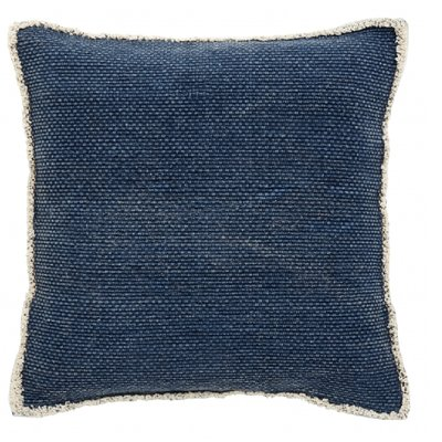 Nordal Nordal - Cushion cover, dark blue, canvas back - Kussenhoes canvas (incl. vulling) - donkerblauw - 45x45