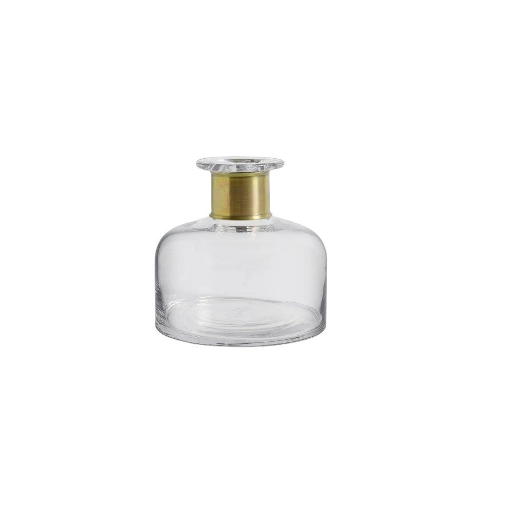 Nordal Nordal - Ring deco bottle, clear, M - Sierfles met ring - M