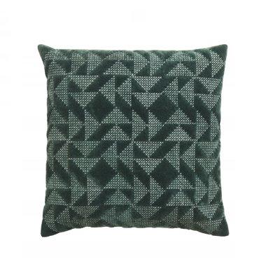 Nordal Sierkussen velvet geometrisch (incl. vulling) - Donkergroen - 45x45