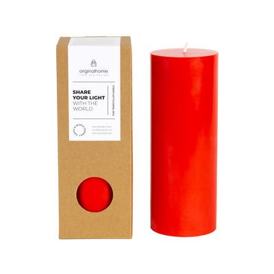 Original Home Original Home - Pillar Candle - Red