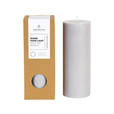 Original Home Original Home - Pillar Candle - Grey
