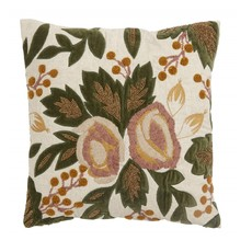 Nordal Nordal - Cushion cover, flowers/beads, rose/curry - Kussenhoes flowers/beads (incl. Vulling) - Rose/curry