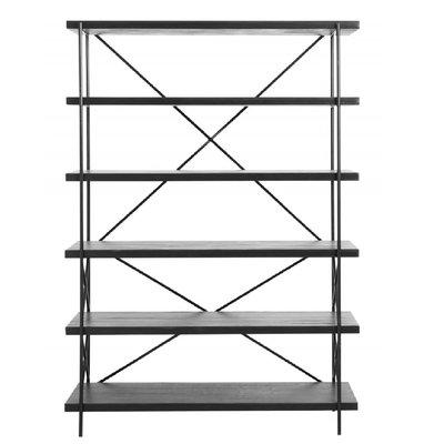 Nordal Nordal - Shelf in black wood w. 5 tiers - Kast, 5 vakken- Zwart hout