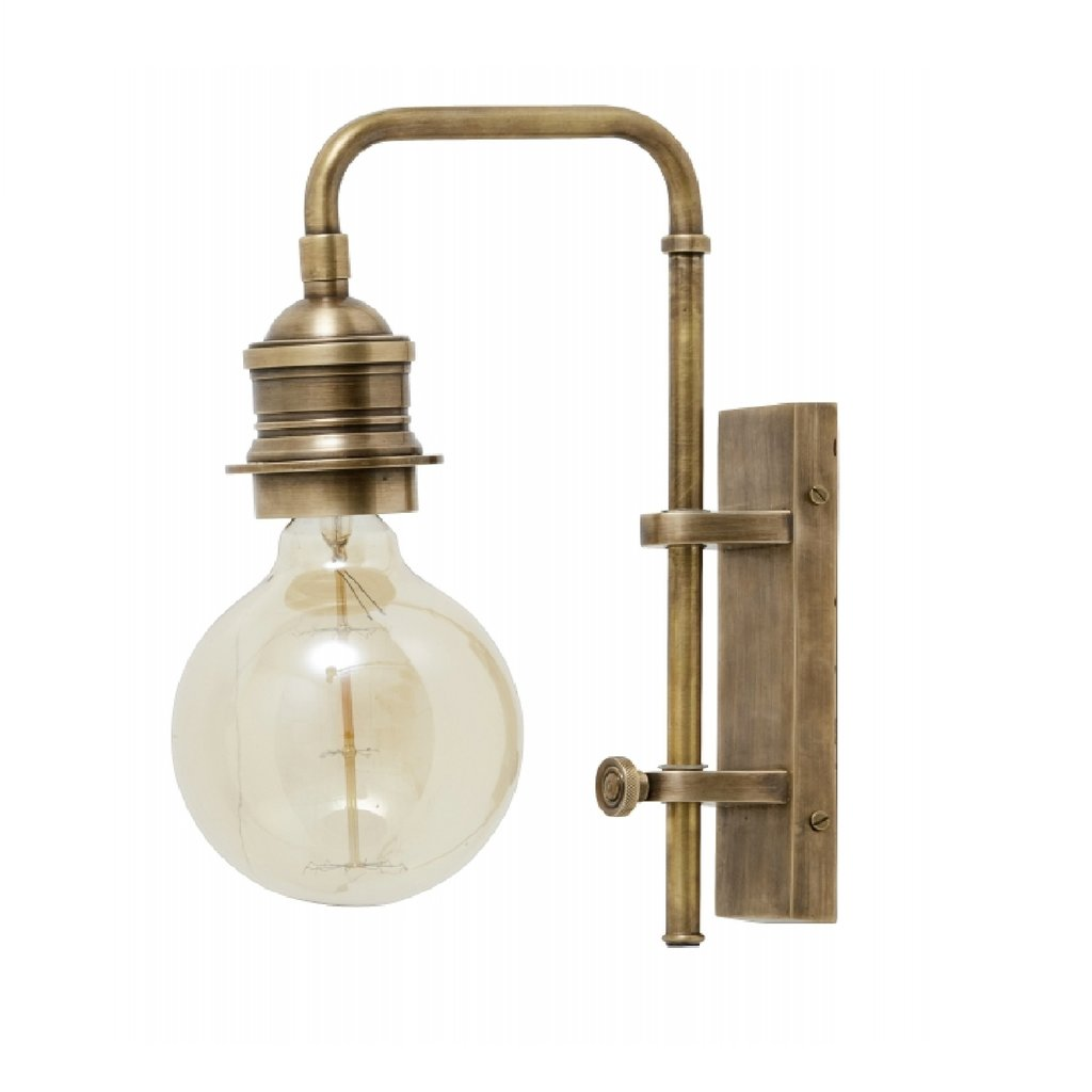 Nordal Nordal - Wall lamp for deco bulb, brass, small - Lamp muur deco - Messing - S