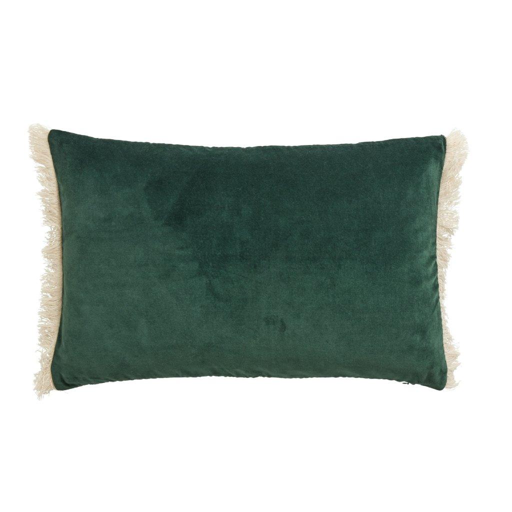 Nordal Nordal - Cushion cover w/fringes, dark green - Kussenhoes met franjes - Donkergroen - 40x65