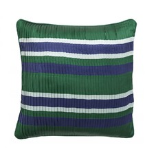 Nordal Nordal - Pleated cushion c. stripes, d.green/navy - Kussenhoes plissé (incl. vulling) - Donkergroen - 48x48