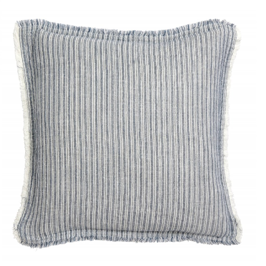 Nordal Nordal - Cushion cover, stripes/duck egg blue - Kussenhoes (incl. vulling) - Gestreept/blauw - 48x48