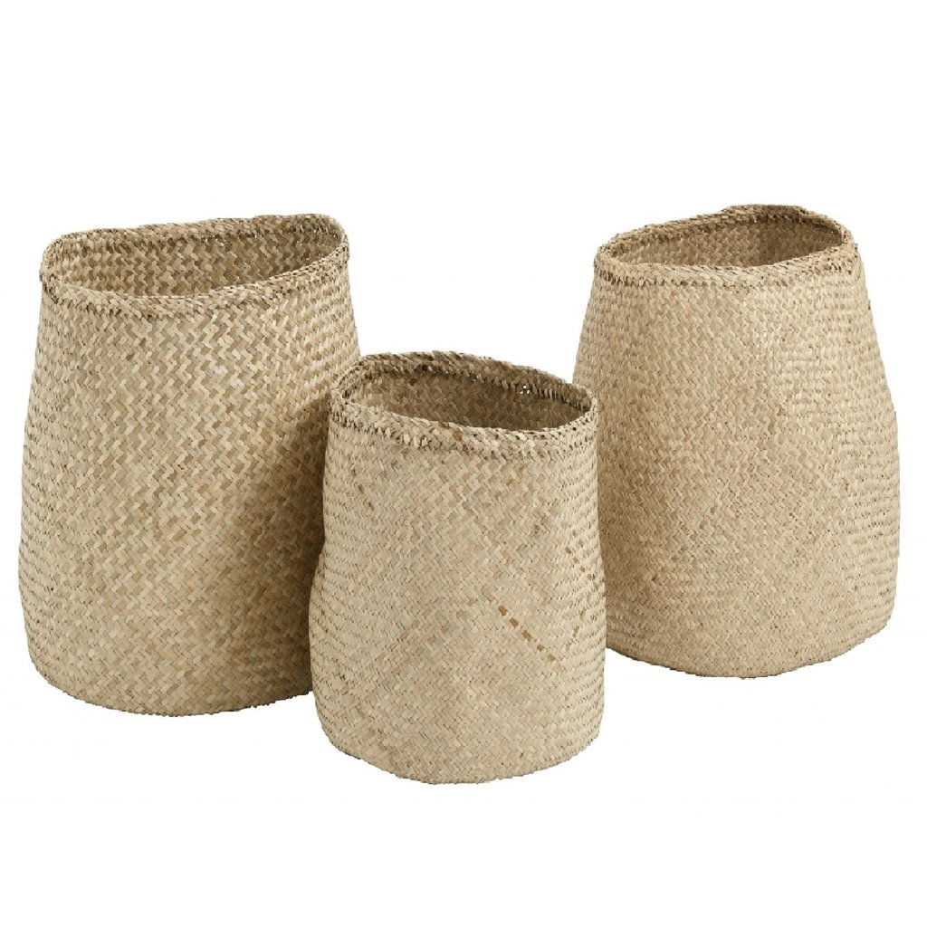 Nordal Nordal - Natural basket, s/3 - Manden, set van 3 stuks - Naturel