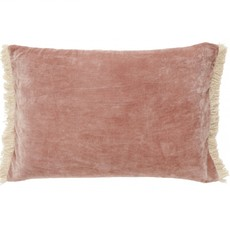 Nordal Nordal - Cushion cover w/fringes dusty rose - Kussenhoes met franjes - Dusty rose - 40x65