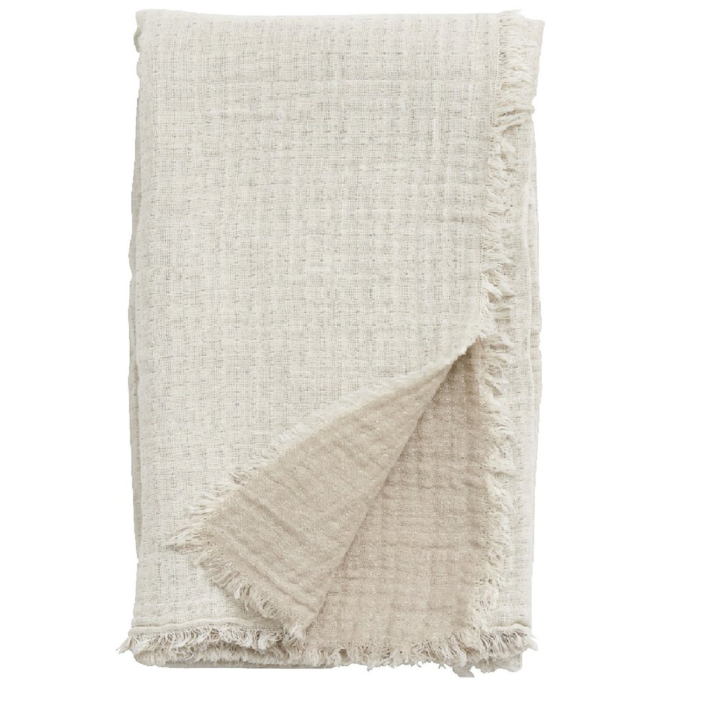 Nordal Nordal - Cotton shawl, off white/beige - Sjaal katoen - Off white/beige