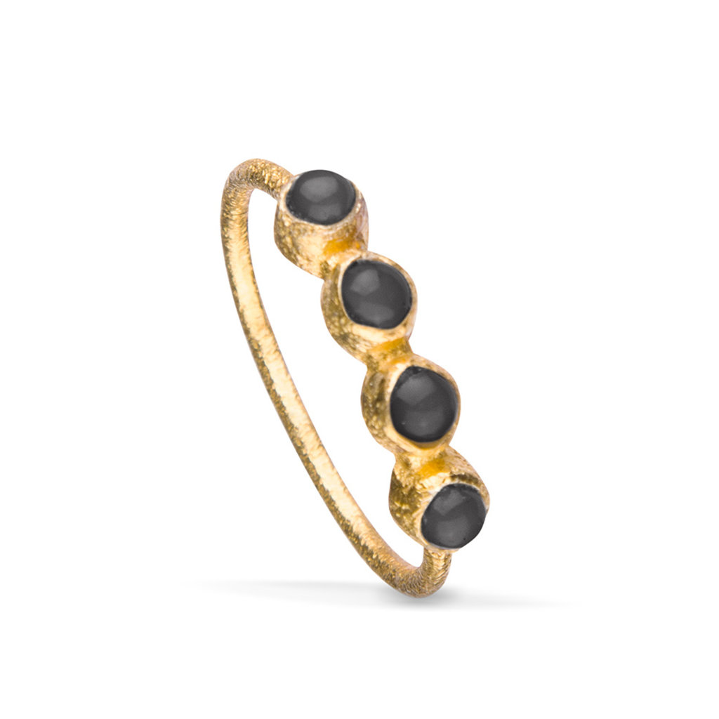 By-Bar multi stone ring