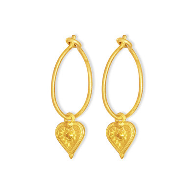 By-Bar pd heart round earring