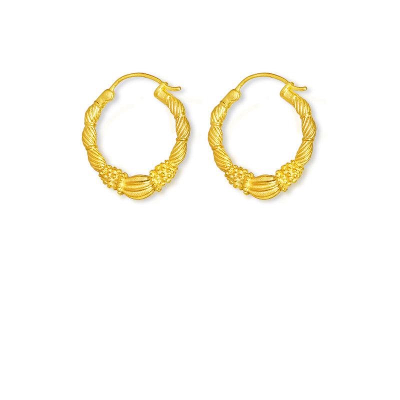 By-Bar pd art hoop earring small