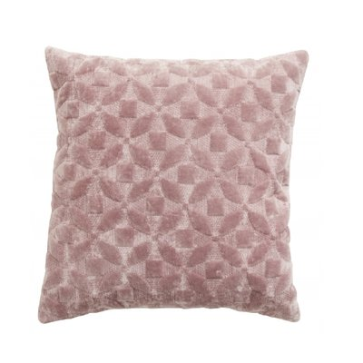 Nordal Nordal - Cushion cover, rose velvet flower design - Kussenhoes velvet bloemen design (incl. vulling) - Rose - 45x45
