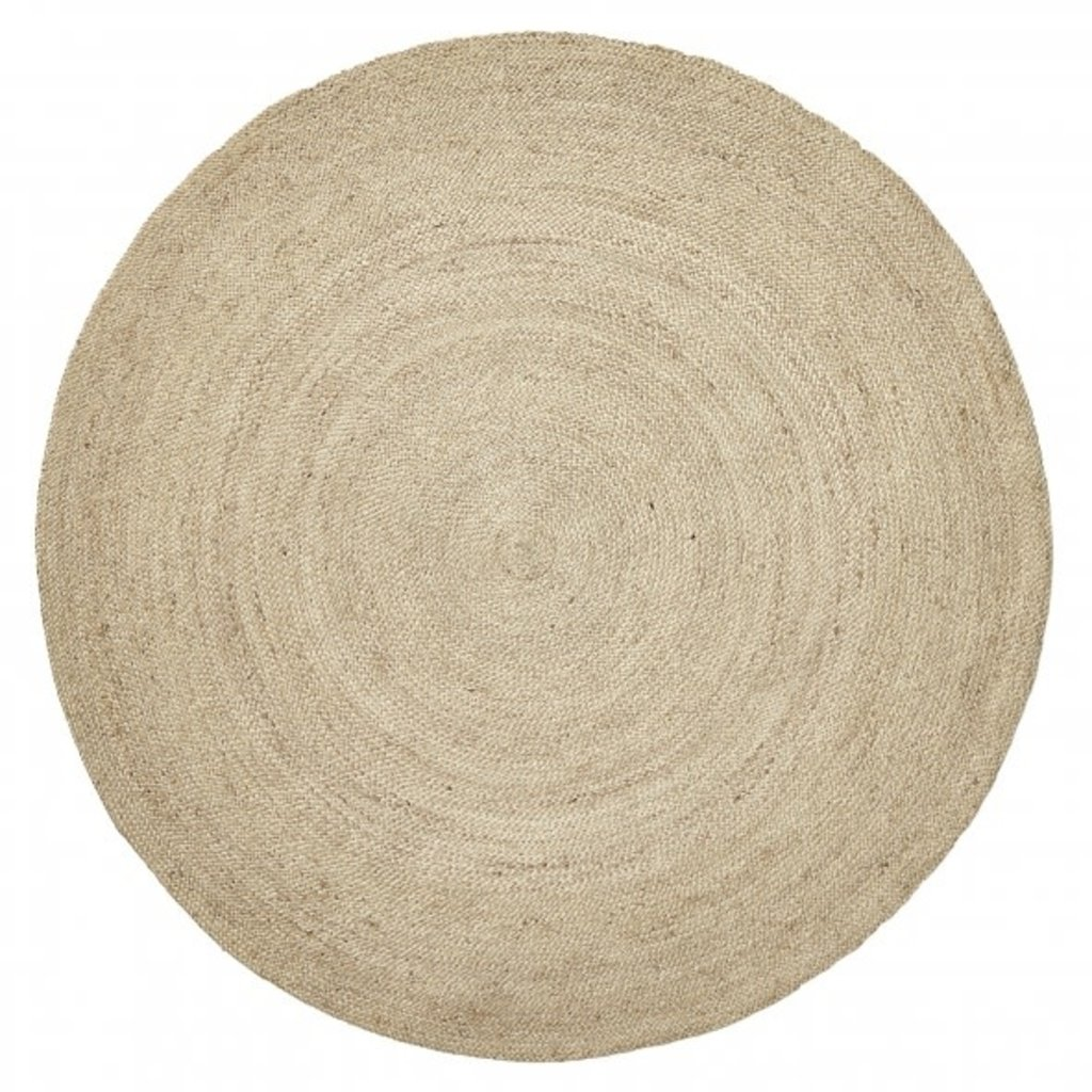 Nordal Jute round carpet, color natural 150 cm