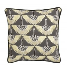 Nordal Cushion cover, yellow bird embroidery 48 x 48 cm