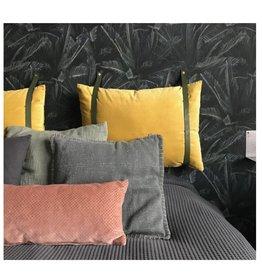 Handles & More Leather cushion straps (pillow height: 40 cm) Khaki/kaki