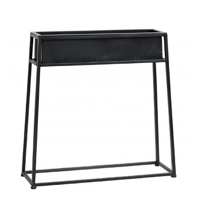 Nordal Iron planter on stand, black