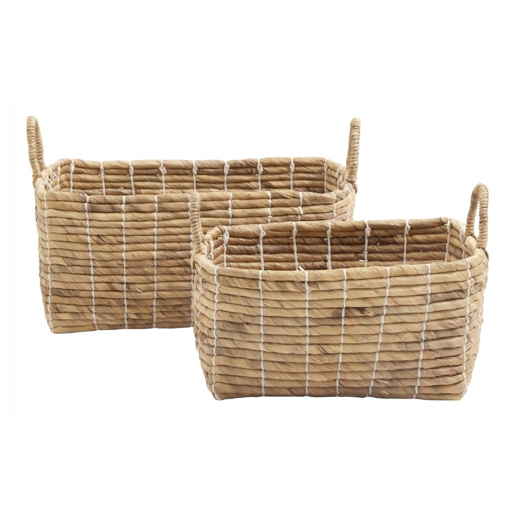 Nordal Basket square set, water hyacinth