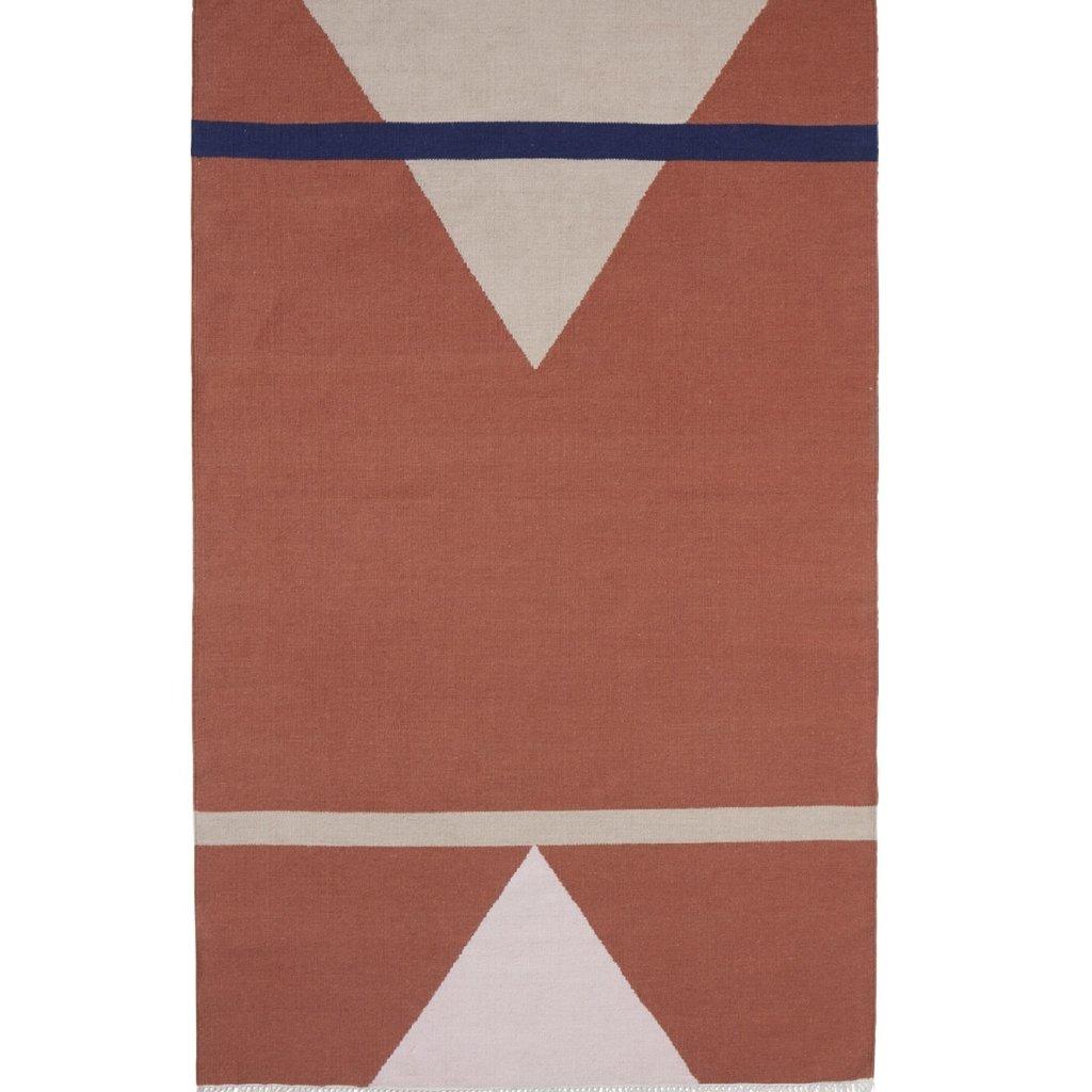 Nordal Vloerkleed Sharp terracotta/roze/beige 160 x 240