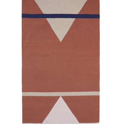 Nordal SHARP woven rug, terracotta/pink/beige 160x240 cm