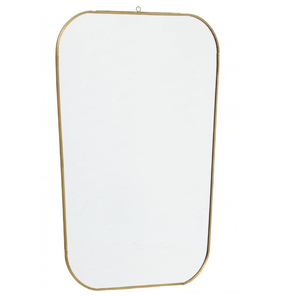 Nordal Nordal - Mirror, square w/rounded edges, golden - Spiegel rechthoek met afgeronde hoeken - Goud - 51x35