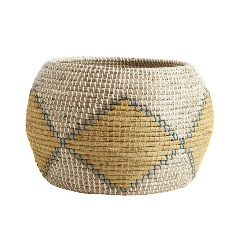 Nordal Nordal - Ilay basket, col. nature/yellow/green