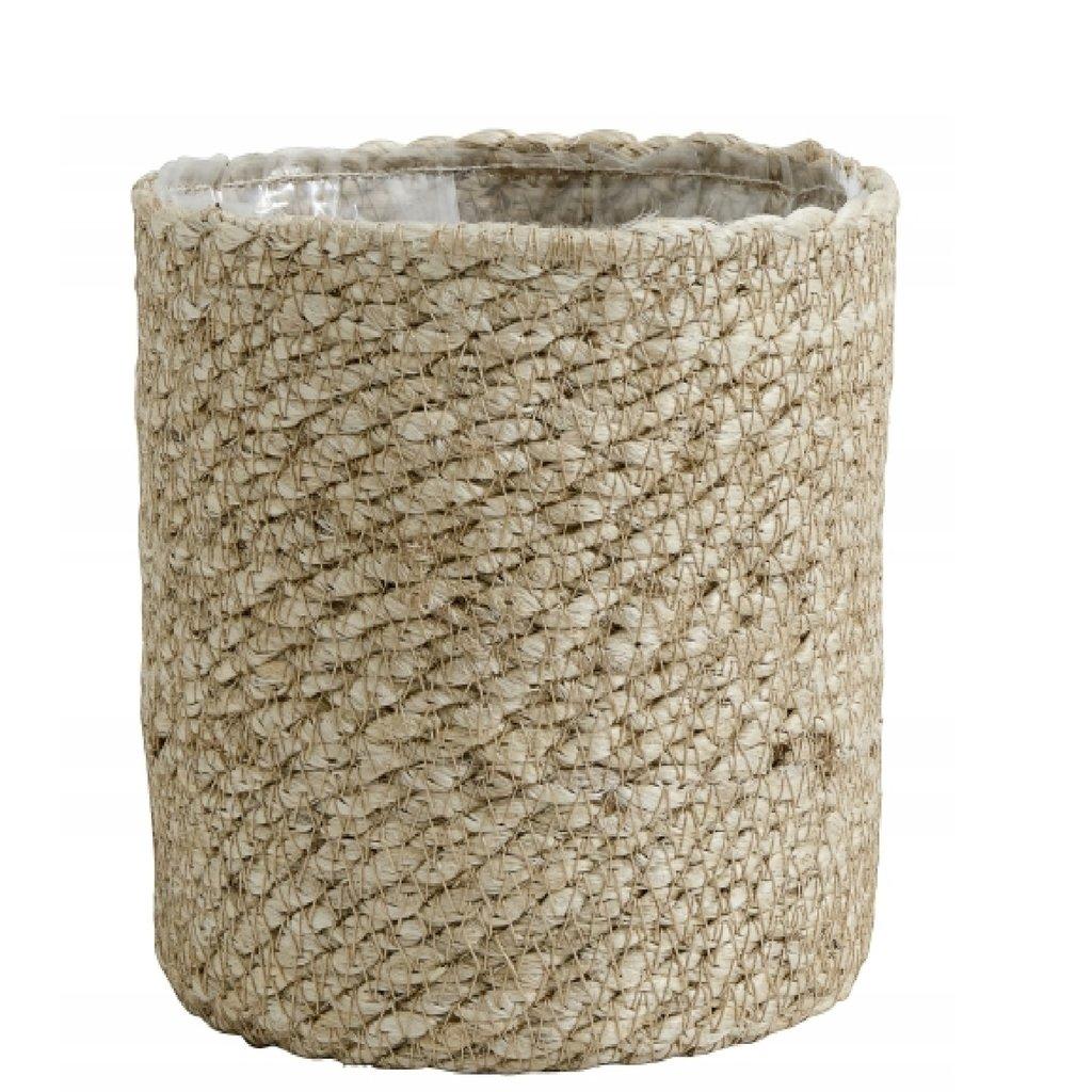 Nordal Jute rope basket with pvc inside, L natur