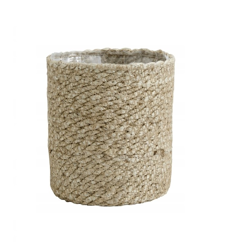 Nordal Jute rope basket with pvc inside, S natur