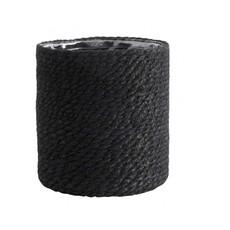 Nordal Jute basket with pvc inside, black, s