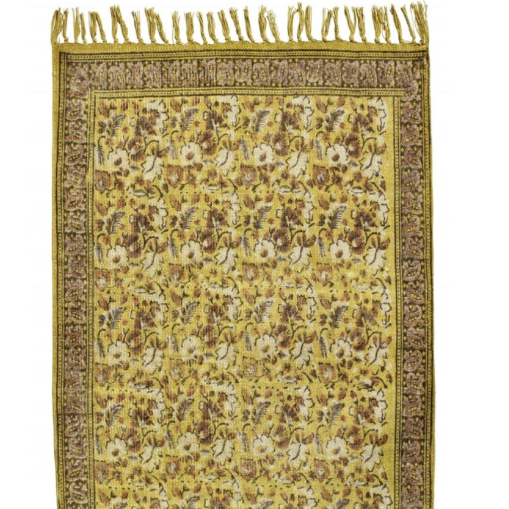 Nordal FLOWER, carpet, curry/brown vloerkleed