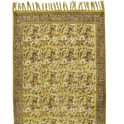 Nordal FLOWER, carpet, curry/brown