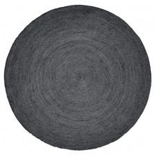 Nordal JUTE round carpet, black