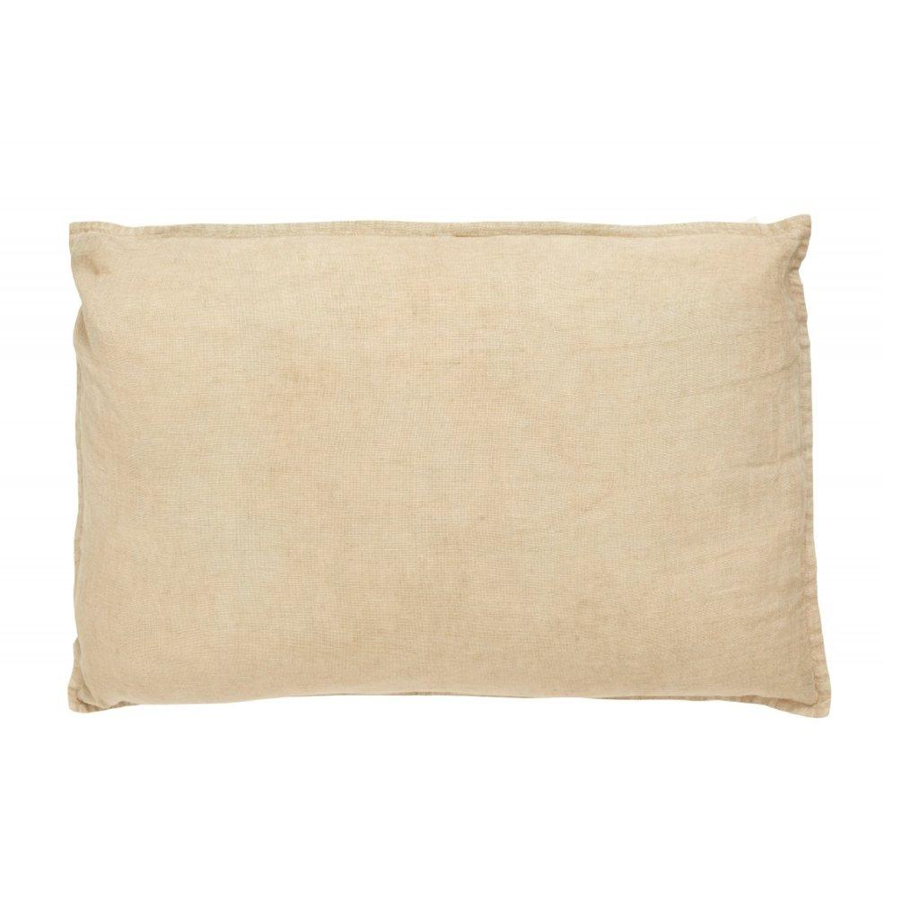 Nordal VELA cushion cover linen, dark sand