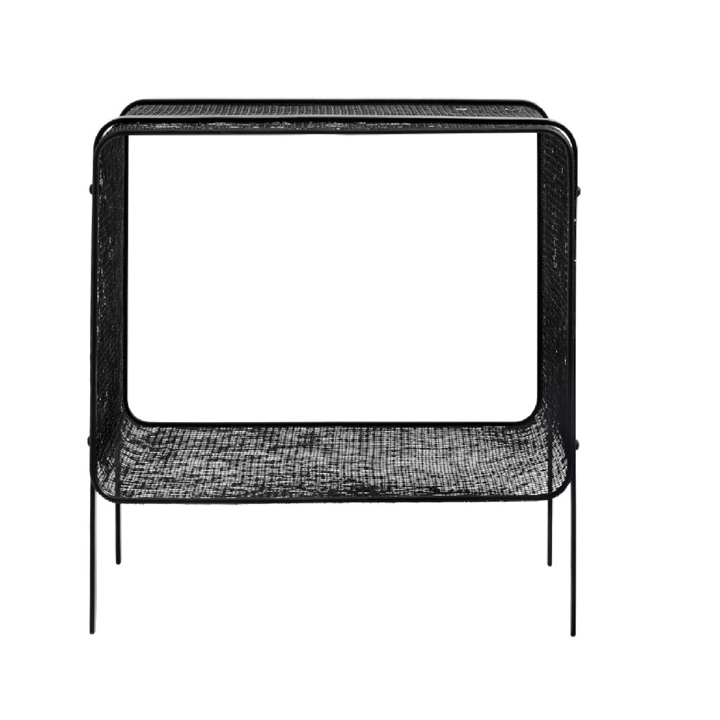 Nordal IRONAL side table, low, black